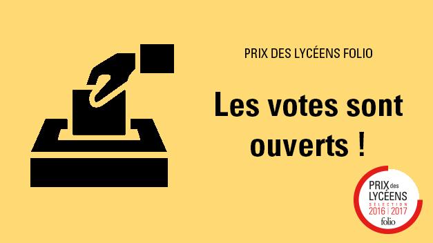 Prix des lycéens Folio : Les votes sont ouverts !